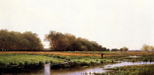 Hunter in the Meadows of Old Newburyport, Massachusetts by Alfred Thompson Bricher