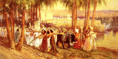 An Egyptian Procession by Frederick Arthur Bridgman