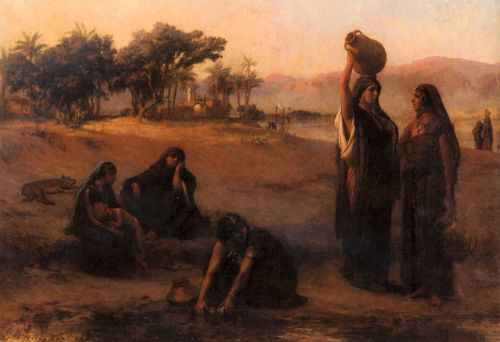 Women Drawing Water From The Nile by Frederick Arthur Bridgman