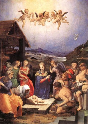 Adoration of the Shepherds by Agnolo Bronzino