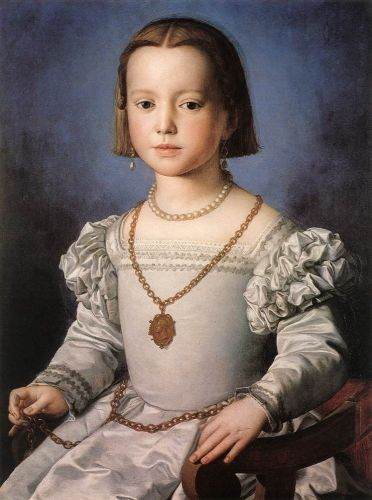 Bia, The Illegitimate Daughter of Cosimo I de' Medici by Agnolo Bronzino