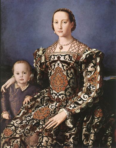 Eleonora of Toledo with her son Giovanni de' Medici by Agnolo Bronzino