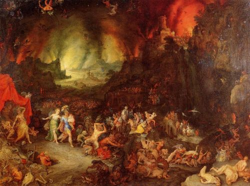 Aenaes and the Sybil in Hades by Jan the Elder Bruegel