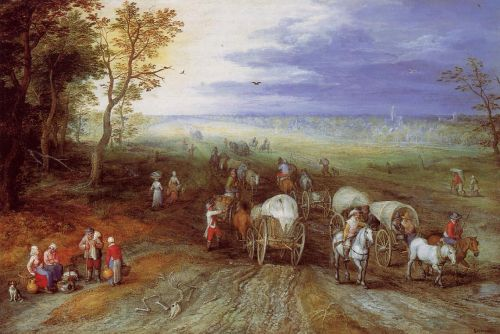 Immense Landscape with Travellers by Jan the Elder Bruegel