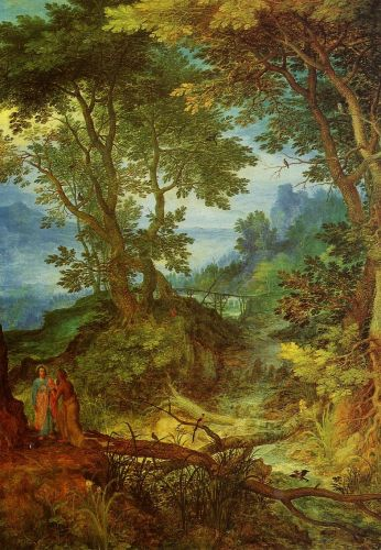 Mountain Landscape with the Temptation of Christ by Jan the Elder Bruegel