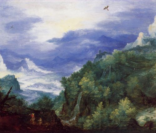 Mountain Landscape with View of a River Valley by Jan the Elder Bruegel