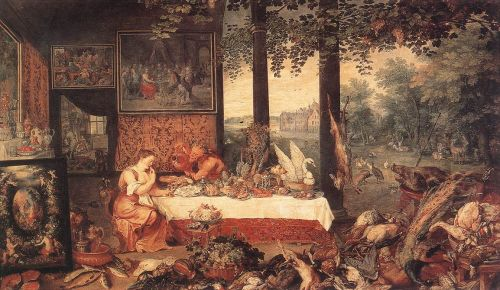 The Sense of Taste by Jan the Elder Bruegel