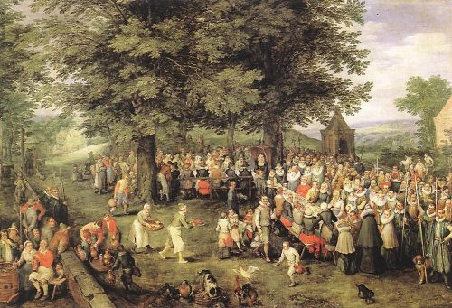 Wedding Banquet by Jan the Elder Bruegel