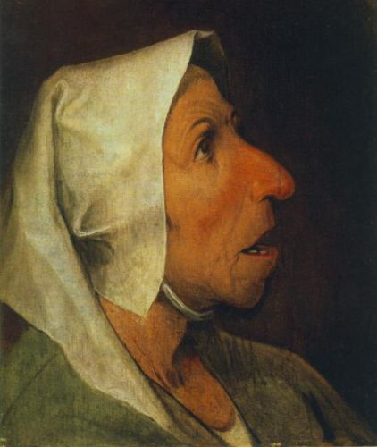 Portrait of an Old Woman by Pieter the Elder Bruegel