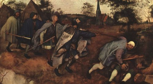 The Parable of the Blind Leading the Blind by Pieter the Elder Bruegel