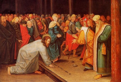 Christ and the Adulteress by Pieter the Younger Bruegel