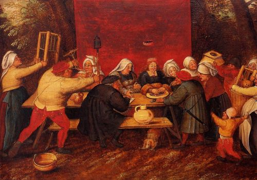 Giving Presents at a Wedding by Pieter the Younger Bruegel