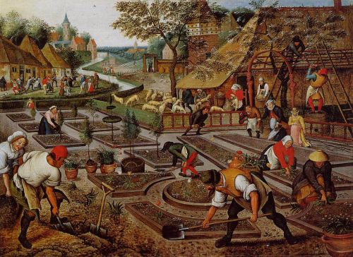 Preparation of the Flower Beds by Pieter the Younger Bruegel