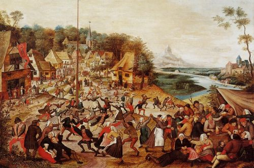 The Dance around the May Pole by Pieter the Younger Bruegel
