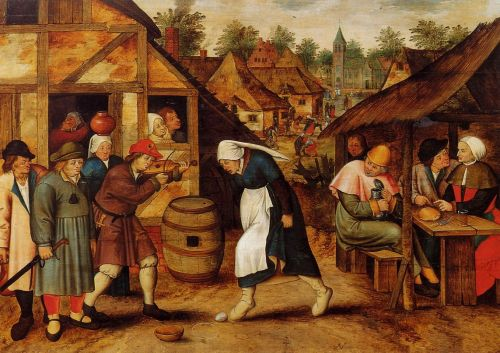 The Egg Dance by Pieter the Younger Bruegel
