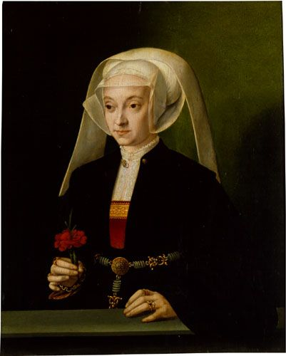 Portrait of a Young Woman by Barthel Bruyn