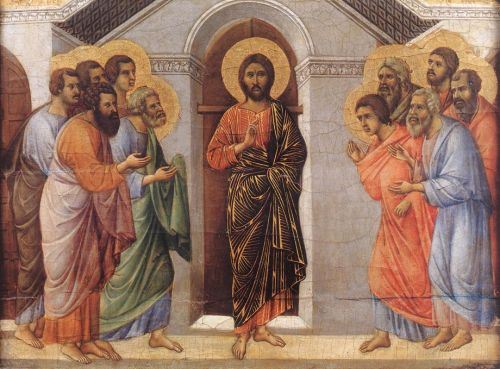 Appearence Behind Locked Doors by Duccio di Buoninsegna