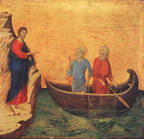 Calling of Peter and Andrew by Duccio di Buoninsegna