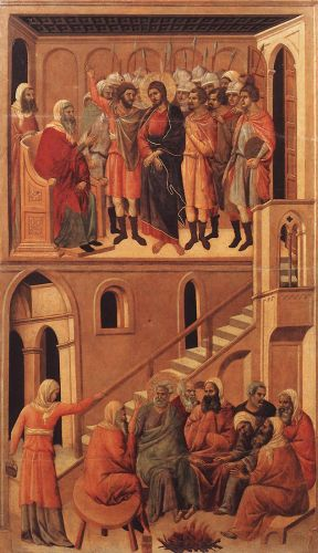 Christ before Annas and Peter Denying Jesus by Duccio di Buoninsegna