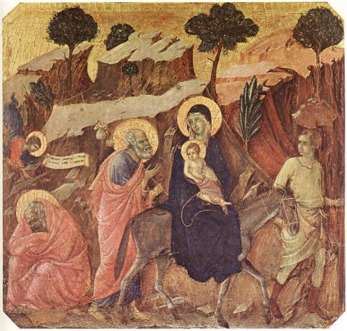 Flight into Egypt by Duccio di Buoninsegna