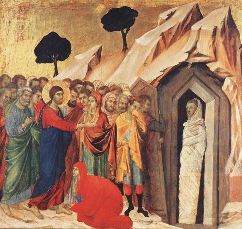 Resurrection of Lazarus by Duccio di Buoninsegna