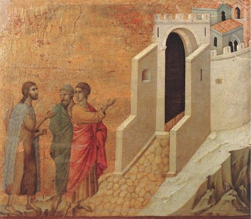 Road to Emmaus by Duccio di Buoninsegna