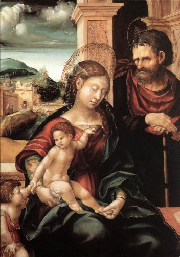 Holy Family with the Child St John by Hans Burgkmair