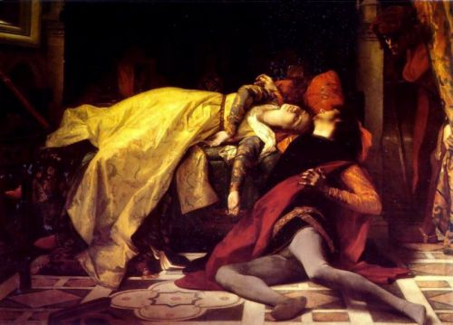 The Death of Francesca da Rimini and Paolo Malatesta by Alexandre Cabanel