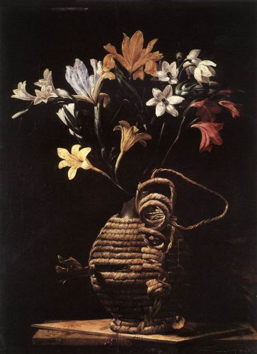 Flowers in a Flask by Guido Cagnacci