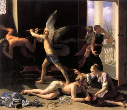 Martha Rebuking Mary for her Vanity by Guido Cagnacci