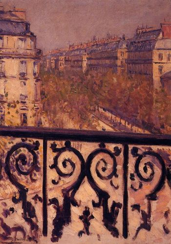 A Balcony in Paris by Gustave Caillebotte