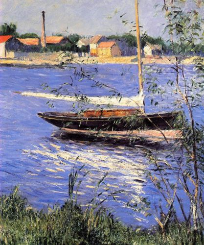 Anchored Boat on the Seine at Argenteuil by Gustave Caillebotte