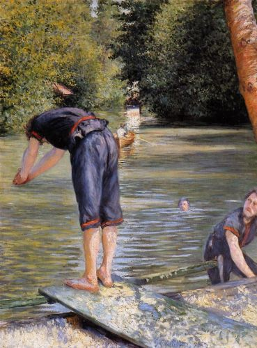 Bathers by Gustave Caillebotte