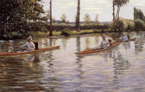 Boating on the Yerres by Gustave Caillebotte