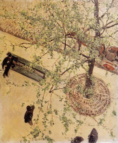 Boulevard Seen from Above by Gustave Caillebotte