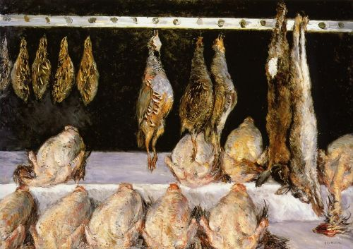 Display of Chickens and Game Birds by Gustave Caillebotte