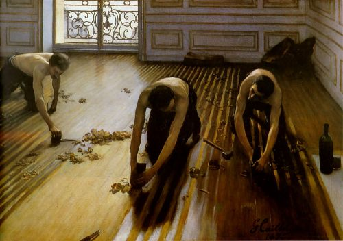 Floor Strippers by Gustave Caillebotte