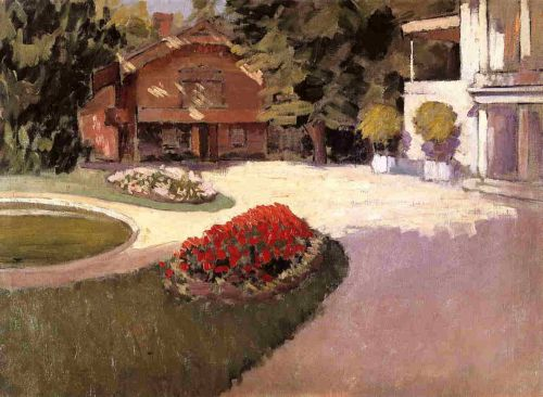 Garden at Yerres by Gustave Caillebotte