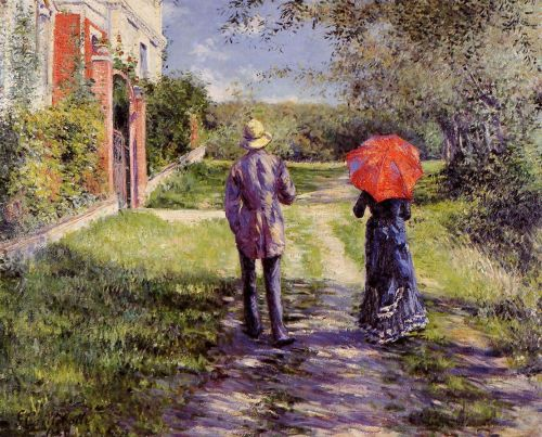 Rising Road by Gustave Caillebotte