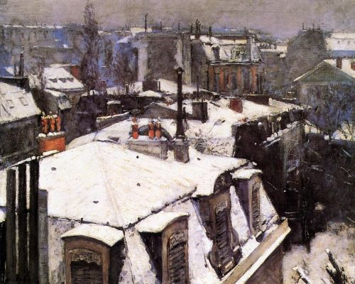 Rooftops Under Snow by Gustave Caillebotte