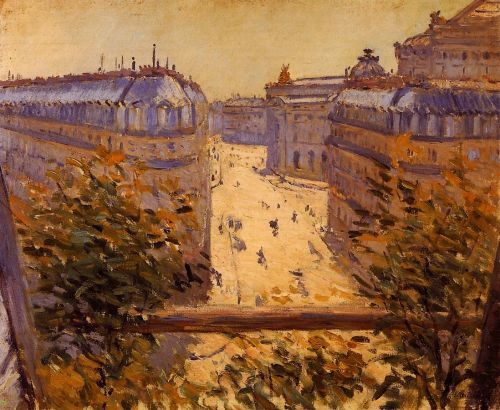 Rue Halevy, Balcony View by Gustave Caillebotte