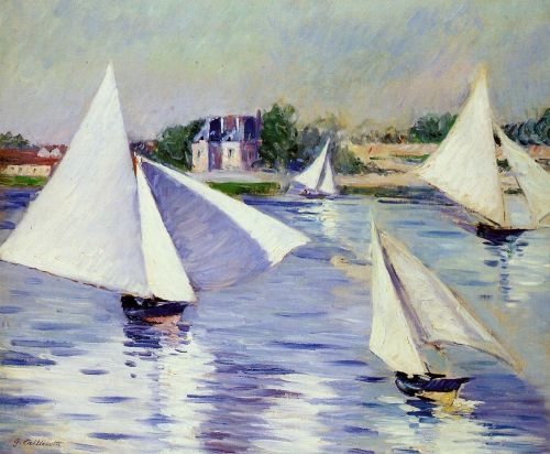Sailboats on the Seine at Argenteuil by Gustave Caillebotte