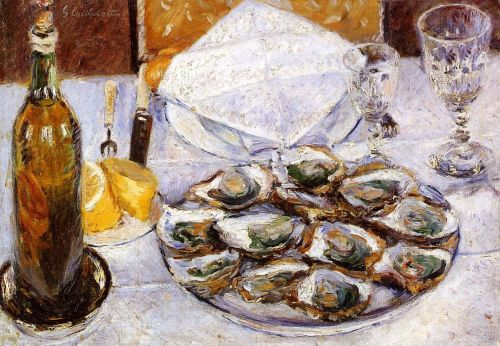 Still Life with Oysters by Gustave Caillebotte