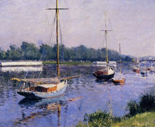 The Basin at Argenteuil by Gustave Caillebotte