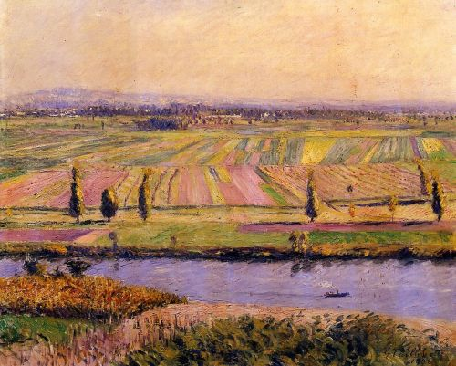 The Gennevilliers Plain, Seen from the Slopes of Argenteuil by Gustave Caillebotte