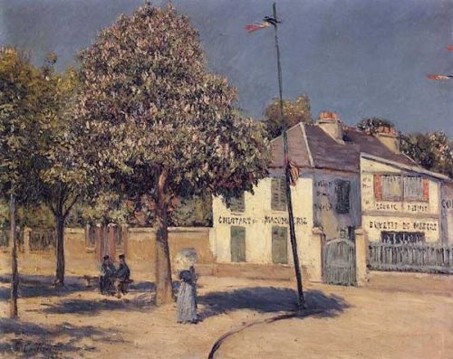 The Promenade at Argenteuil by Gustave Caillebotte