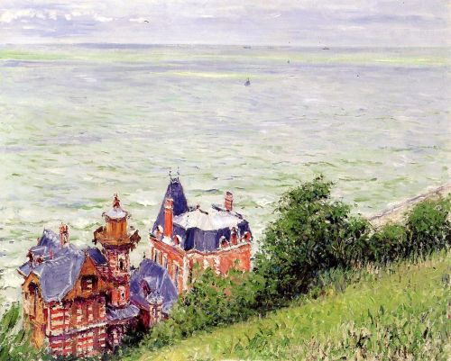 Villas at Trouville by Gustave Caillebotte