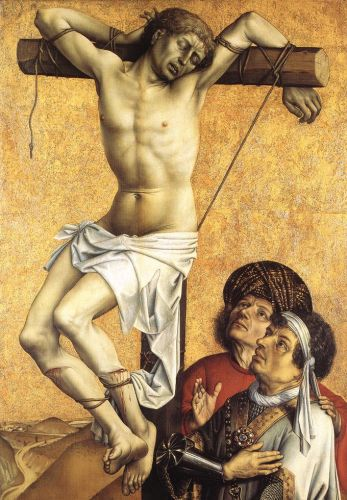 The Crucified Thief by Robert Campin