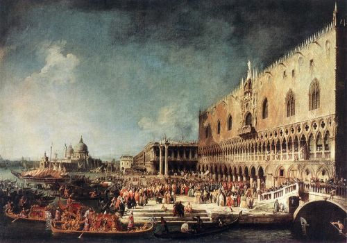 Arrival of the French Ambassador in Venice by Giovanni Antonio Canaletto
