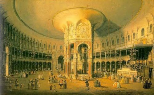 London - Ranelagh, the Interior of the Rodunda by Giovanni Antonio Canaletto